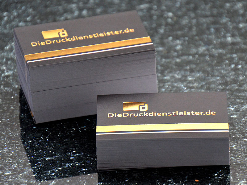 Edle Visitenkarten Drucken Mit Heißfolie In Gold Oder Silber