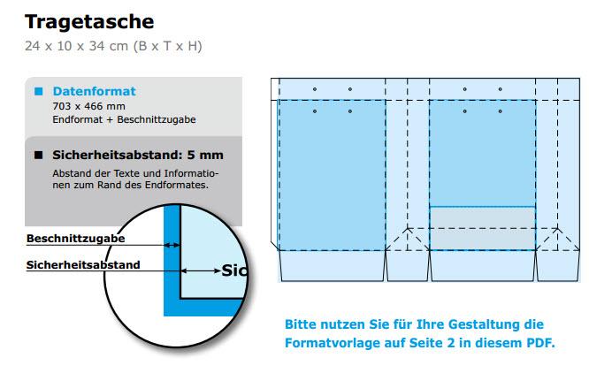 Datenblatt-Tragetasche
